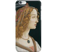 Sandro Botticelli - Portrait of an Ideal Woman iPhone Case/Skin