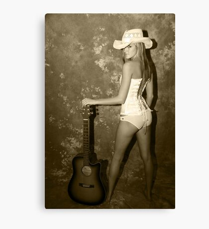 Rock My World Little Country Girl Canvas Print