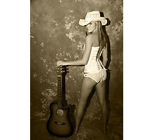 Rock My World Little Country Girl Photographic Print