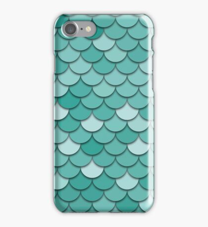 Teal Fish Scale iPhone Case/Skin