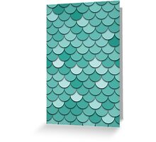 Teal Fish Scale Greeting Card