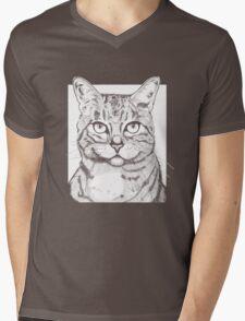 Handsome Cat Mens V-Neck T-Shirt