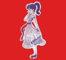 polka dot girl One Piece - Long Sleeve