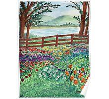Flora Landscape Poster