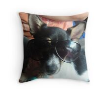 Ben showing off his shades Throw Pillow