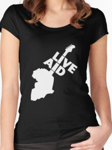 New Live Aid vintage Women's Fitted Scoop T-Shirt