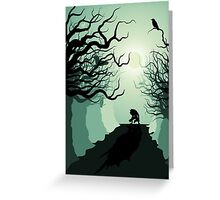 Crows and the Werewolf Greeting Card
