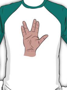 Live Long and Prosper Hand Sign T-Shirt
