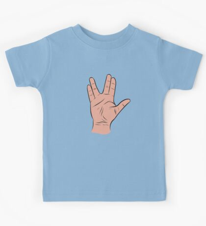 Live Long and Prosper Hand Sign Kids Tee