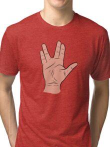 Live Long and Prosper Hand Sign Tri-blend T-Shirt