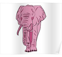 I See A Pink Elephant Poster