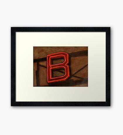 BGLOW Framed Print