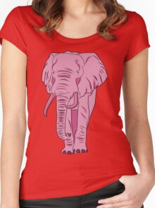 I See A Pink Elephant Women's Fitted Scoop T-Shirt