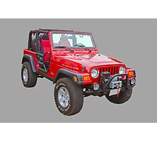 Red Jeep Wrangler Rubicon 4x4 Photographic Print