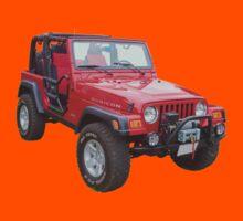 Red Jeep Wrangler Rubicon 4x4 Kids Tee