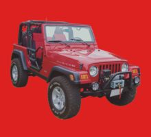 Red Jeep Wrangler Rubicon 4x4 Baby Tee
