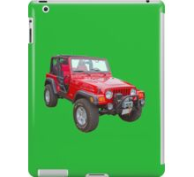 Red Jeep Wrangler Rubicon 4x4 iPad Case/Skin
