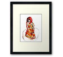 Clown Girl Framed Print