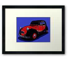 Red 2CV Framed Print