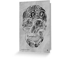Swirly Skull Greeting Card