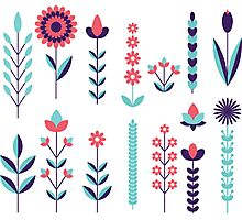 Geometric Flowers Photographic Print