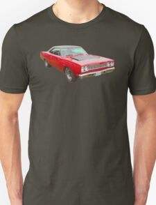 Red 1968 Plymouth Roadrunner Muscle Car Unisex T-Shirt