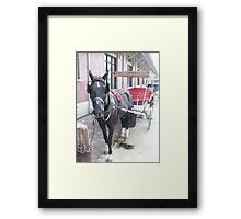 Natchez Carriage Rides Framed Print