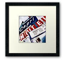 western capri Framed Print