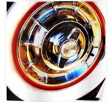 corvette hubcap Poster