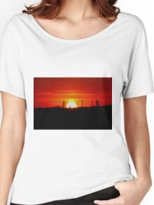 Manitoba Sunset Women's Relaxed Fit T-Shirt