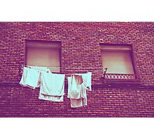 When we're back from vacation the laundry will be dry Photographic Print