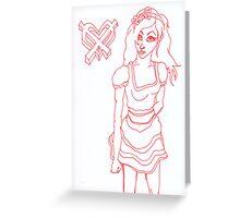Graffiti high tea Greeting Card