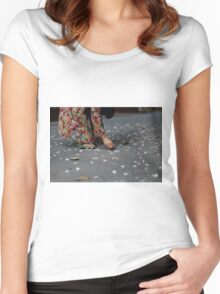 flower collector  Women's Fitted Scoop T-Shirt