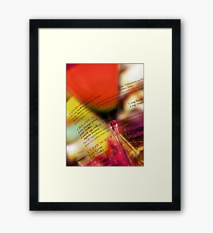 red glass Framed Print