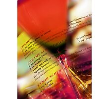 red glass Photographic Print
