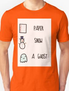 Paper, Snow, a Ghost!! T-Shirt