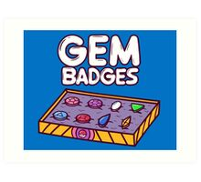 Gem Badges Art Print