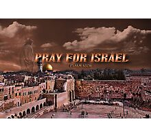 PRAY FOR ISRAEL- DOME WALL- PICTURE/CARD Photographic Print