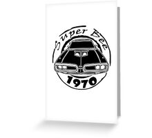 1970 dodge super bee graphic geek funny nerd Greeting Card