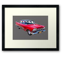 1958 Plymouth Savoy Classic Car Framed Print