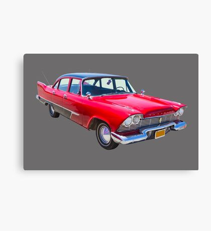 1958 Plymouth Savoy Classic Car Canvas Print