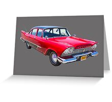 1958 Plymouth Savoy Classic Car Greeting Card