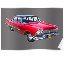 1958 Plymouth Savoy Classic Car Poster