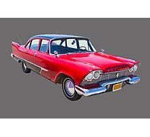1958 Plymouth Savoy Classic Car Photographic Print