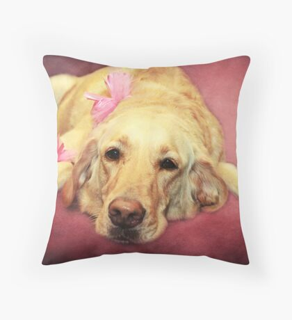 Morgan.... the Madam of the Seeing Eye Dogs Throw Pillow