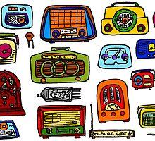 Vintage Radios by LauraLeeDesigns