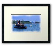 Little Tugboat  - Digital Oil Painting Framed Print