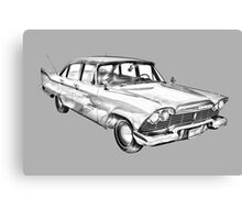 1958 Plymouth Savoy Classic Car Illustration Canvas Print