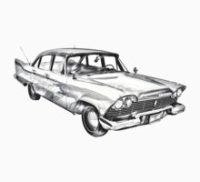 1958 Plymouth Savoy Classic Car Illustration Baby Tee