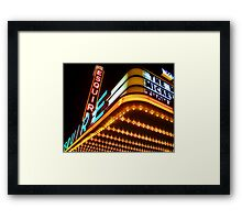 esquire theater, chicago Framed Print